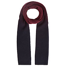Buy Ted Baker Spray Ombre Scarf, Dark Red Online at johnlewis.com