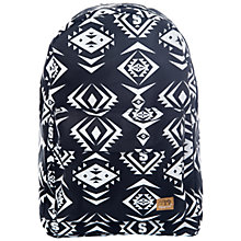 Buy Spiral Tribal Print Backpack, Black Online at johnlewis.com