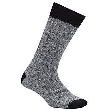 Buy JOHN LEWIS & Co. Cable Knit Boot Socks, Black/White Online at johnlewis.com