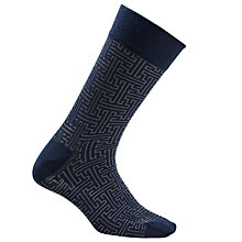 Buy JOHN LEWIS & Co. Maze Pattern Socks, One Size Online at johnlewis.com