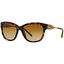 Buy Burberry BE4203 Polarised Square Sunglasses, Tortoise Online at johnlewis.com