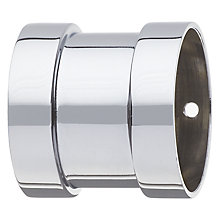 Buy John Lewis Chrome / Acrylic Curtain Pole Connector, Dia.35mm Online at johnlewis.com