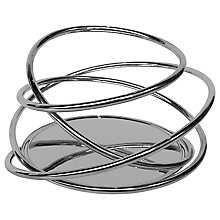 Buy Black and Blum Loop Pillar Candle Holder, Chrome Online at johnlewis.com