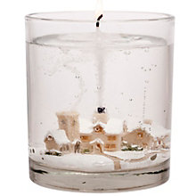Buy Stoneglow Snowscene Winter Wonderland Medium Gel Candle Online at johnlewis.com