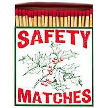 Buy Archivist Holly Luxury Long Matches, Red Online at johnlewis.com