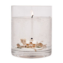 Buy Stoneglow Snowscene Winter Wonderland Large Gel Candle Online at johnlewis.com