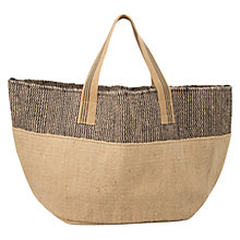 Buy Mango Jute Bag, Light Beige Online at johnlewis.com