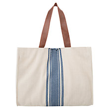 Buy Mango Striped Panel Bag, Natural White Online at johnlewis.com