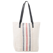 Buy Mango Striped Cotton Bag, Navy Online at johnlewis.com