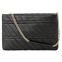 Buy Mango Quilted Leather Shoulder Bag, Black Online at johnlewis.com