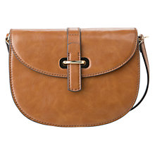 Buy Mango Tab Cross Body Bag, Medium Brown Online at johnlewis.com
