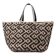 Buy Mango Boho Jute Shopper Bag, Black Online at johnlewis.com