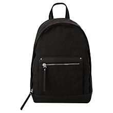 Buy Mango Pocket Backpack, Black Online at johnlewis.com