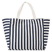 Buy Mango Striped Cotton Shopper Bag Online at johnlewis.com