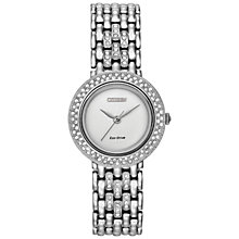 Buy Citizen EM0260-67A Women's Silhouette Crystal Eco-Drive Watch, Silver Online at johnlewis.com