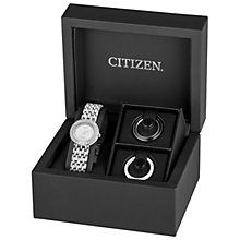 Buy Citizen EM0260-67A Women's Silhouette Crystal Bracelet Strap Watch, Silver Online at johnlewis.com