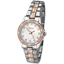Buy Sekonda 2019.27 Women's Starfall Crystal Stainless Steel Bracelet Watch, Silver/Rose Gold Online at johnlewis.com