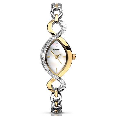 Sekonda 2017.27 Women's Two Tone Bracelet Strap Watch, Silver/Gold