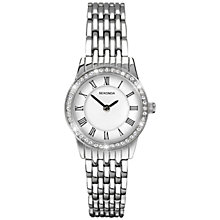 Buy Sekonda 2151.27 Women's Crystal Stainless Steel Bracelet Strap Watch, Silver/White Online at johnlewis.com