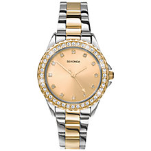 Buy Sekonda 4252.27 Women's Two Tone Stainless Steel Bracelet Strap Watch, Silver Online at johnlewis.com
