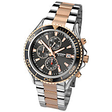 Buy Sekonda 1089.27 Men's Chronograph Stainless Steel Bracelet Watch, Silver Online at johnlewis.com
