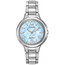 Buy Citizen EP5990-50D Women's Silhouette Eco-Drive Women's Watch, Silver/Mother Of Pearl Online at johnlewis.com