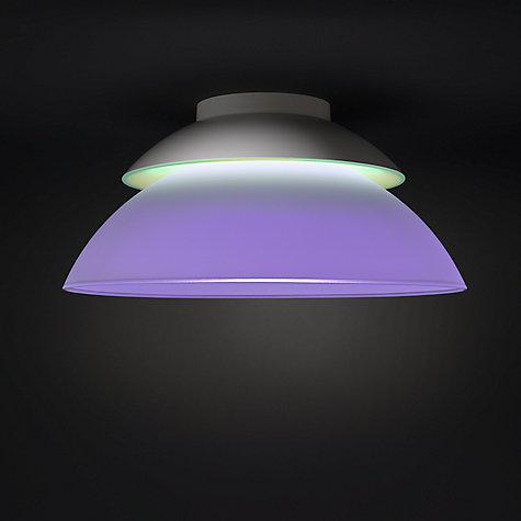 Buy Philips Hue Beyond Semi Flush Led Ceiling Light John Lewis