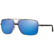 Buy Dolce & Gabbana DG2142 Metal Framed Sunglasses, Blue Online at johnlewis.com