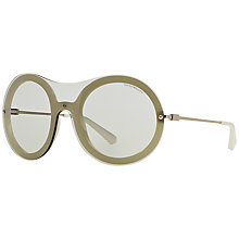 Buy Emporio Armani EA4055 Round Framed Sunglasses,Silver Online at johnlewis.com