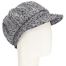 Buy John Lewis Fleck Baker Boy Wool Hat, Black/White Online at johnlewis.com