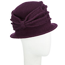 Buy John Lewis Wool Pleat Bow Cloche Hat Online at johnlewis.com