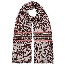 Buy Lola Rose Leopard Chain Scarf, Brown Online at johnlewis.com