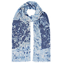 Buy Lola Rose Kalahari Leo Marble Scarf, Blue Online at johnlewis.com