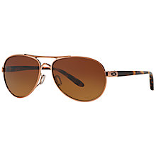 Buy Oakley OO4108 Tie Breaker Polarised Sunglasses, Brown Online at johnlewis.com