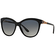 Buy Bvlgari BV8158 Catene Polarised Sunglasses, Black Online at johnlewis.com