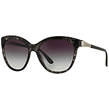 Buy Bvlgari BV8158 Catene Cat's Eye Sunglasses, Black Online at johnlewis.com