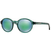 Buy Emporio Armani EA4054 Round Framed Sunglasses Online at johnlewis.com