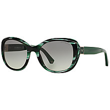 Buy Emporio Armani EA4052 Square Framed Sunglasses, Green/Grey Online at johnlewis.com