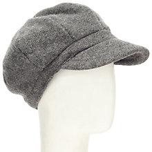 Buy John Lewis Wool Baker Boy Hat, Charcoal Online at johnlewis.com