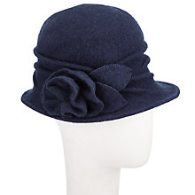 Buy John Lewis Wool Pleat Rose Cloche Hat Online at johnlewis.com