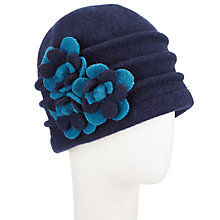 Buy John Lewis Wool Floral Beanie Hat Online at johnlewis.com