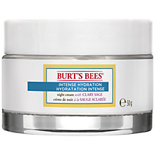 Buy Burt's Bees Intense Hydration Night Cream, 50g Online at johnlewis.com