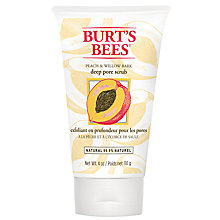 Buy Burt's Bees Peach and Willow Bark Deep Pore Scrub, 110g Online at johnlewis.com