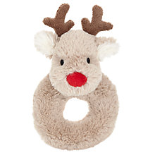 Buy John Lewis Baby's Reindeer Christmas Ring Rattle Online at johnlewis.com