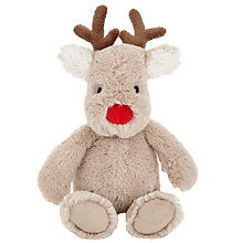 Buy John Lewis Baby's Reindeer Christmas Soft Toy Online at johnlewis.com