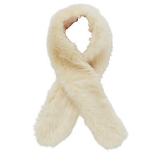 Buy John Lewis Faux Fur Stole, Cream Online at johnlewis.com