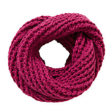 Buy John Lewis Chunky Knit Snood, Pink Online at johnlewis.com