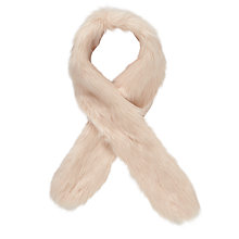 Buy John Lewis Faux Fur Stole, Pink Online at johnlewis.com
