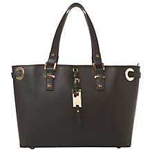 Buy Dune Denzie Oversized Eyelet Shopper Bag, Black Online at johnlewis.com