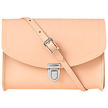 Buy Cambridge Satchel Medium Leather Push Lock Bag, Oyster Online at johnlewis.com